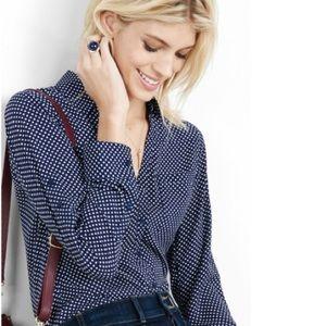 Express Blue Dot Portofino Shirt